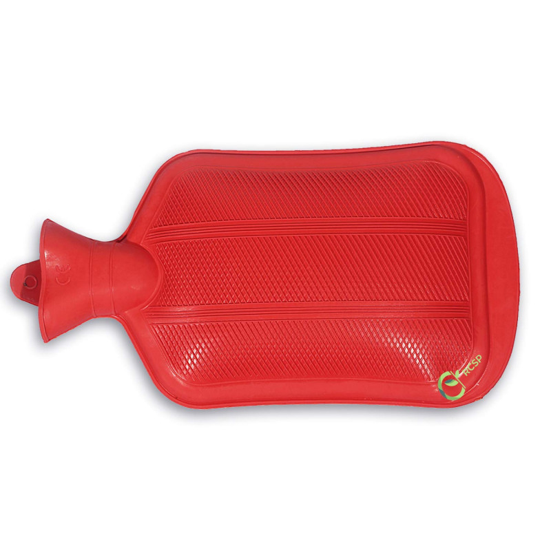Kitchen Hub Rubber Hot Water Bag Bottle Pain Relief Bed Hand Warmer Hot Water Bag 2 L Red Color